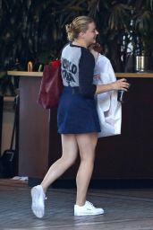Chloe Moretz Leggy in Mini Skirt - Arrives at The Four Seasons Hotel in Beverly Hills 07/23/2018