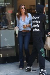 Cindy Crawford With Her Son in New York City 07/18/2018