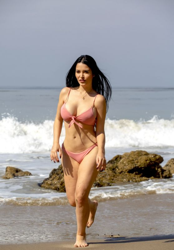 Claudia Alende in Bikini on the Beach in LA, July 2018