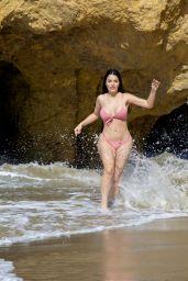 Claudia Alende in Bikini on the Beach in LA, July 2018