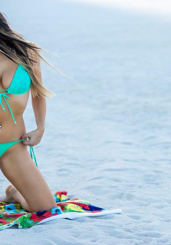 Claudia Romani in Bikini on South Beach 07/29/2018