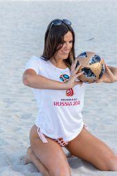 Claudia Romani - World Cup Theme Photoshoot on Miami Beach