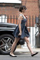 Daisy Lowe Strolling Through Central London 07/26/2018