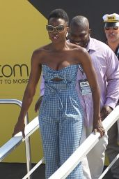 Danai Gurira Greets Fans After a Panel at the #IMDboat for SDCC 2018