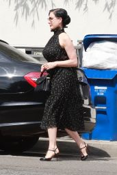 Dita Von Teese Looks Stylish - Shops for Carpet in West Hollywood