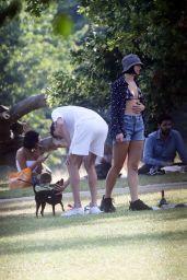 Dua Lipa and Boyfriend in the Park in London 07/15/2018