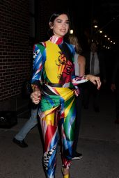 """Dua Lipa - Exits """"The Late Show with Stephen Colbert"""" in NYC 07/26/2018"""