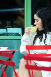 Eliza Doolittle at a Vegetarian Restaurant in London 07/19/2018