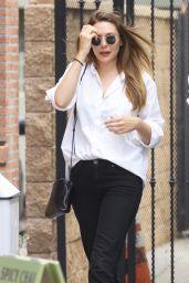 Elizabeth Olsen Casual Style - Leaving Alfred Coffee in Studio City
