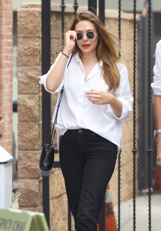 Elizabeth Olsen Casual Style - Leaving Alfred Coffee in Studio City
