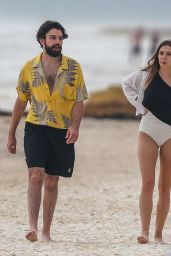 Elizabeth Olsen in Swimsuit at the Beach in Mexico 07/28/2018