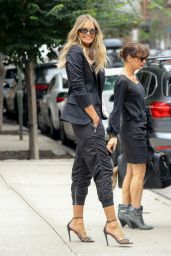 Elle Macpherson in an all Black Outfit - NYC 07/27/2018