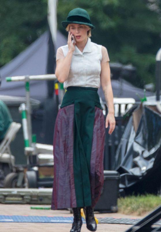 "Emily Blunt - ""Jungle Cruise"" Movie Set in Atlanta 07/13/2018"