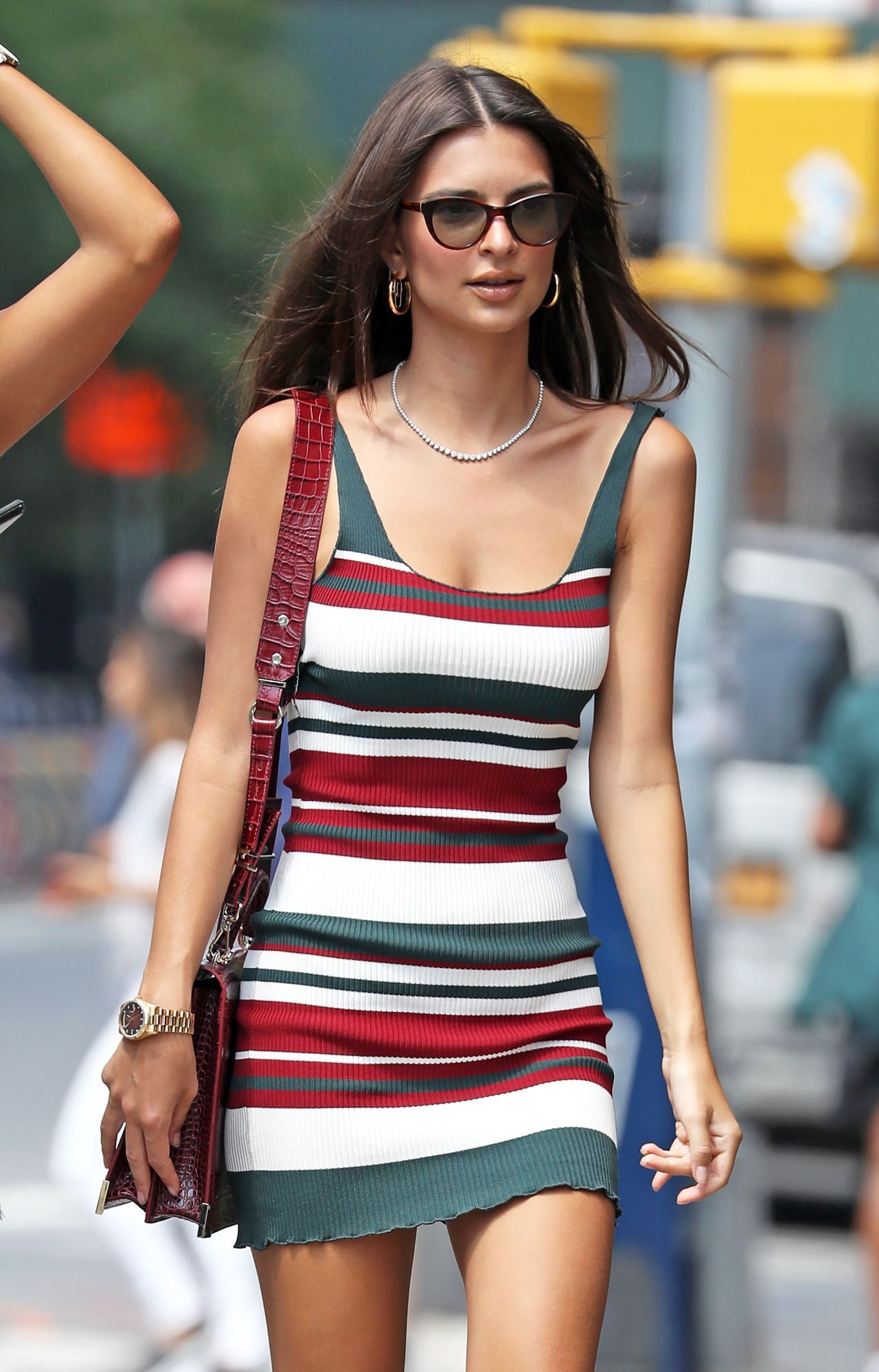 9bd3733d1f07 Emily Ratajkowski in Summer Mini Dress - NYC 07 16 2018