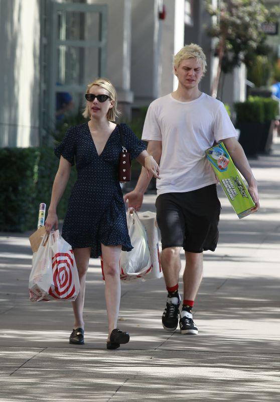Emma Roberts and Evan Peters at Target in Los Angeles 07/14/2018