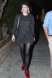 Emma Roberts at Matsuhisa in Los Angeles 07/13/2018