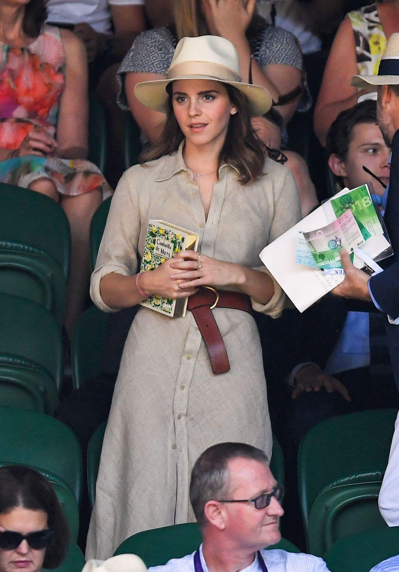 Emma Watson at The Championships at Wimbledon in London 07 ...