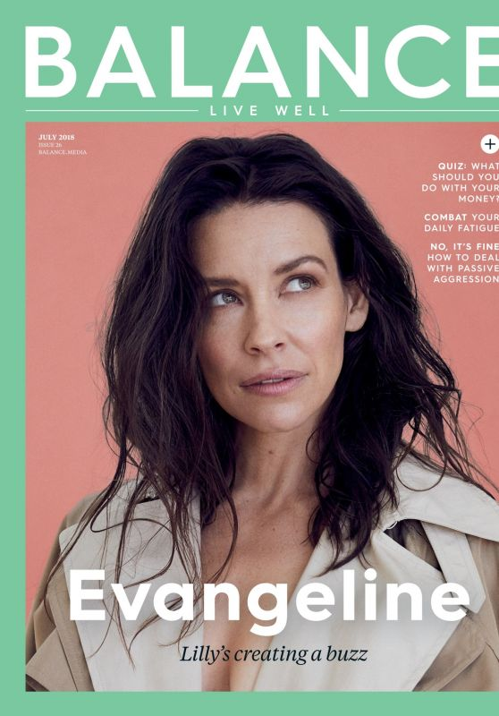 Evangeline Lilly - Balance Magazine July 2018 Issue