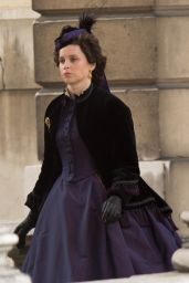 "Felicity Jones - ""The Aeronauts"" Movie Set in Greenwich 07/30/2018"