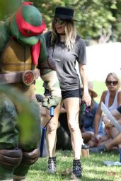 Fergie at a Ninja Turtles Themed Party in Los Angeles