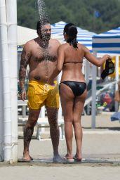 Fernanda Lessa and Luca Zocchi at the Beach in Pietrasanta 07/30/2018