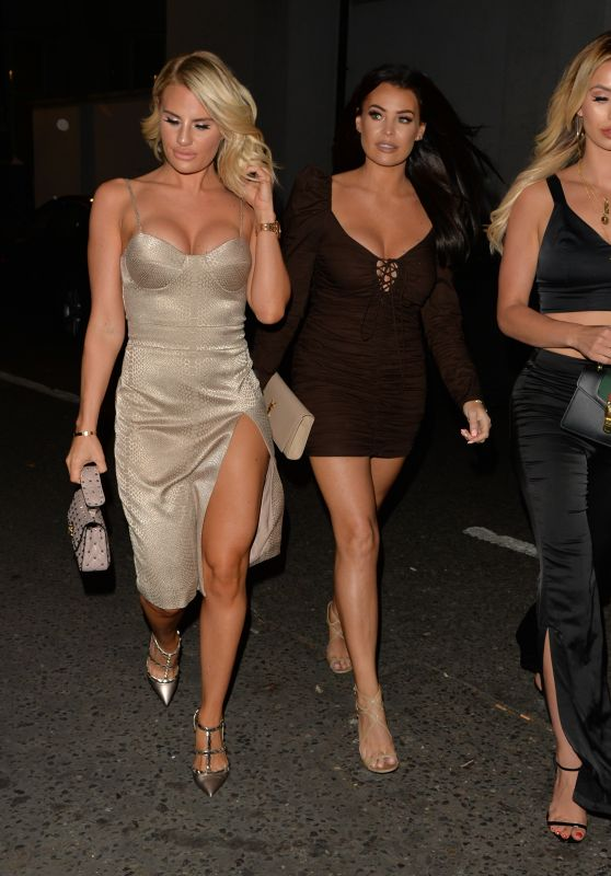 Ferne McCann, Danielle Armstrong and Jessica Wright at Sexy Fish in Mayfair