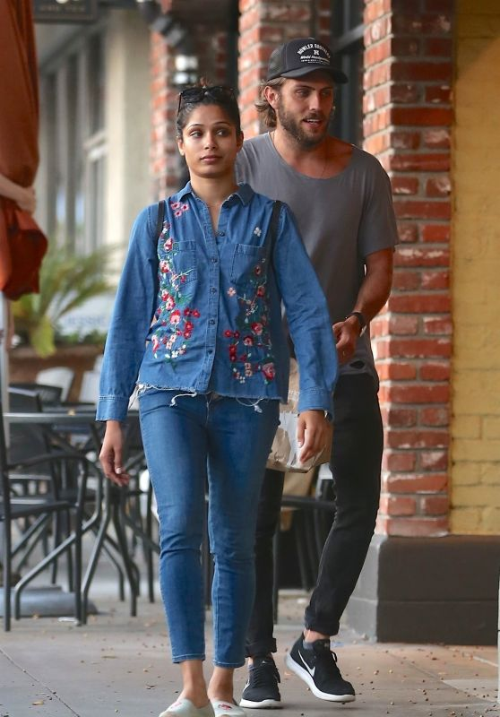 Freida Pinto and Her New Boyfriend Out in LA 07/29/2018