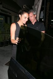 Gal Gadot Night Out Style - Leaving The Palm Restaurant in Beverly Hills