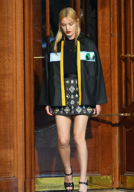 Georgia May Jagger – Miu Miu Cruise Collection Show in Paris 06/30/2018