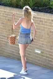 Georgia Toffolo in Jeans Shorts - Leaving the ITV Studios in London