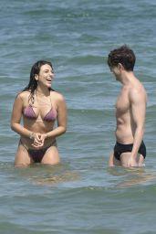 Giulia Salemi and Boy Friend at the Beach 07/15/2018