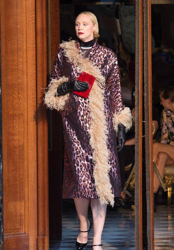 Gwendoline Christie - Paris Haute Couture Miu Miu 2019 Cruise Collection Show