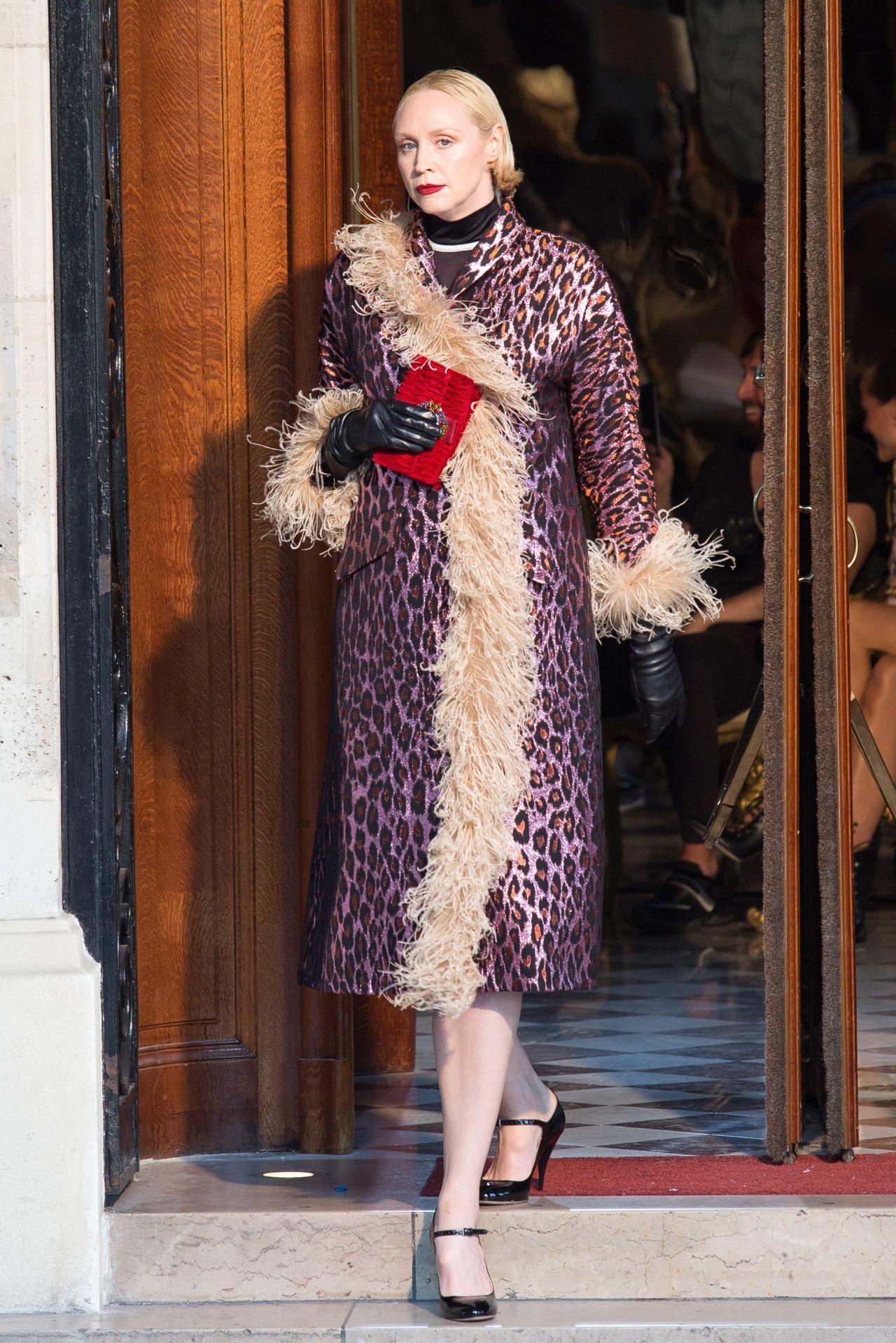 Gwendoline Christie Paris Haute Couture Miu Miu 2019 Cruise Collection Show