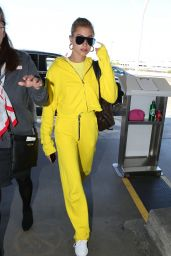 Hailey Baldwin in Travel Outfit at LAX Airport in LA 07/22/2018