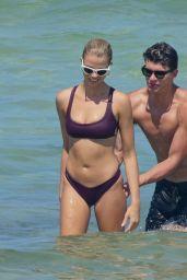 Hailey Clauson Hot in Bikini on the Beach in Miami 07/15/2018