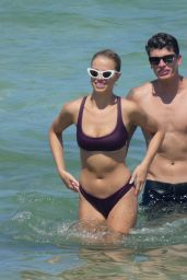 Hailey Clauson in Bikini - Having Fun on the Beach in Miami 07/15/2018