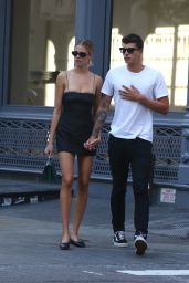 Hailey Clauson - Shopping With Boyfriend Jullien Herrera in Soho 07/07/2018