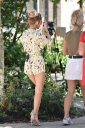 """Hayley Hughes - Filming for the ITV """"This Morning"""" Show in London 07/25/2018"""