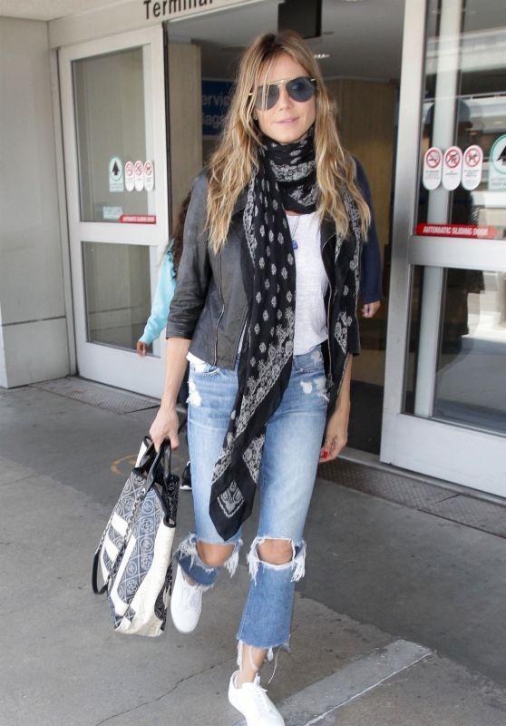 Heidi Klum at LAX Airport 07/08/2018