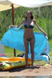 Heidi Klum in Bikini at the Beach in Corsica 07/25/2018