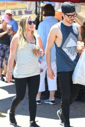 Hilary Duff - Heads to the Farmers Market in Studio City 07/15/2018