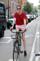 Hilary Rhoda Cycling Through the Streets of New York City