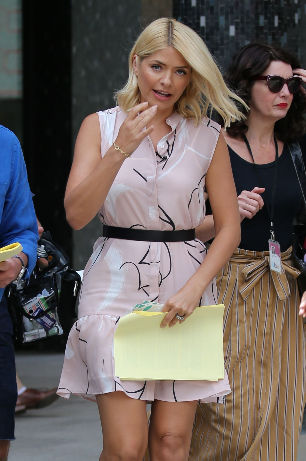 Holly Willoughby Filming Outside Itv Studios In London
