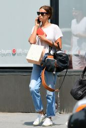 Irina Shayk Street Style - Out On a Stroll in NYC 07/29/2018