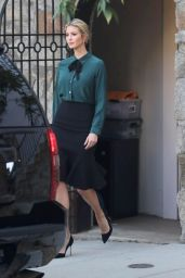 Ivanka Trump in Black Skirt - Departs Home in Washington