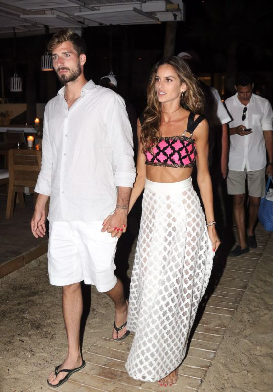 Izabel Goulart Celebrating Kevin