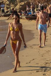 Izabel Goulart in Bikini at the Beach on Mykonos Island 07/13/2018