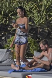 Izabel Goulart in Bikini - Holiday on Mykonos Island