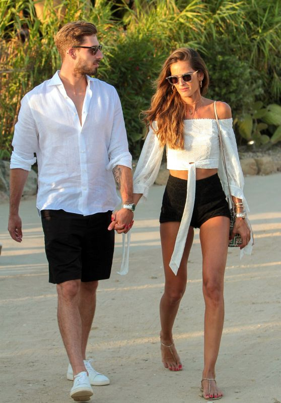 Izabel Goulart With Her Fiance After Their Engagement Party on Mykonos Island 07/06/2018