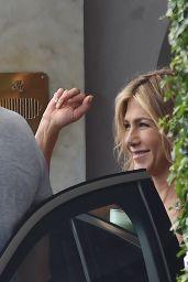 Jennifer Aniston - Leaves Her Hotel in Santa Margherita Ligure 07/27/2018